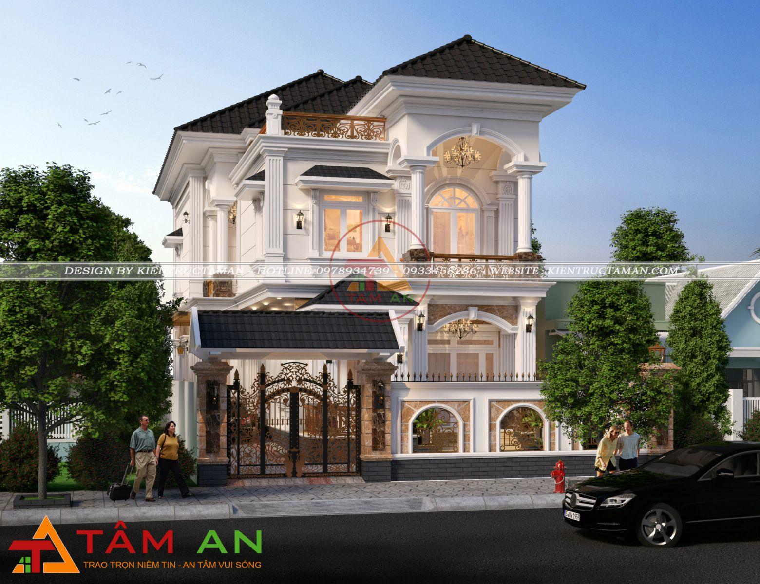 thiết kế thi công xây dựng nhà biệt thự uy tín